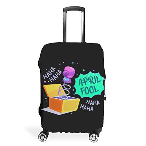 Travel April Fools' Day Funda protectora para equipaje – Único 4 tamaños para la mayoría de maletas, White (Blanco) - YOUYO Spark-XLXT-24