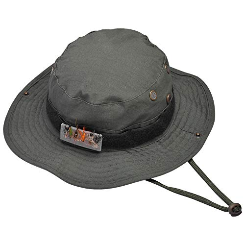SF UPF50 Fly Fishing Booine Hat Sun Protection Hat for Men Women Hiking Camping # Greem