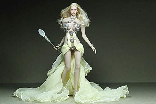 ZSMD 30 cm vrouwelijke actiefiguur jurken handgemaakt hoofddeksel + jurk + broekje + armbanden accessoires set voor 1/6 figuur pop model speelgoed Phics/Tbleague A