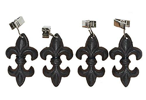 CUMO Tischdeckenbeschwerer in Lilienform mit Clip, dunkelrostfarben lackiertes G