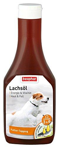beaphar Lachsöl für Hunde | Gesunder Hundefutter-Zusatz | Öl zum Barfen geeignet | Mit Omega 3 und 6 Fettsäuren | 425 ml Dosierflasche