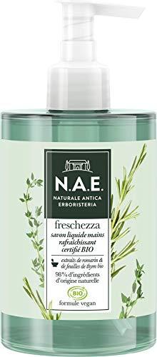 N.A.E. - Savon liquide Mains - Rafraîchissant - Freschezza - Certifié Bio - Formule Vegan - 98 % d'ingrédients d'origine naturelle - Le flacon de 300 ml