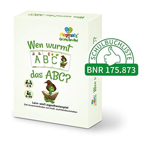 Piepmatz und Grünschnabel Wen WURMT DAS ABC? | Alphabet lernen und üben | mit Groß- und Kleinbuchstaben | Konzentrationsspiel für Kinder | für 2-8 Spieler ab 6 Jahren