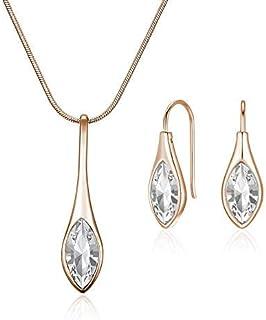 Mestige Women's Rose Gold Amelie with Swarovski Crystals Jewelry Set - MSSE3238