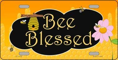 Koopje Wereld Bee Gezegend Honing Hive Nieuwigheid License Plaat (Met Sticky Notes)