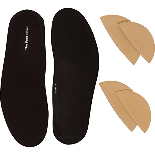 FootChair Orthotics with Pads for Adjustable Arch Height Relieve Plantar Fasciitis and Other Foot Pain Women 785 / Men 565