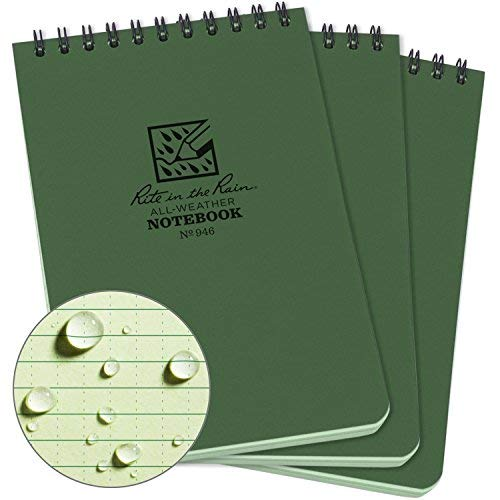 Rite In The Rain Weatherproof Top Spiral Notebook, 4
