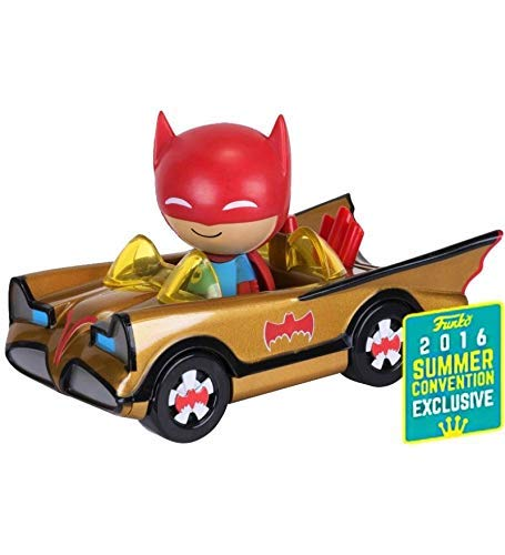 Batman POP! Ridez Vehicle with Dorbz Figure ?66 Batman Gold Batmobile SDCC 2016 Exclusive 12 cm Funko Mini figures