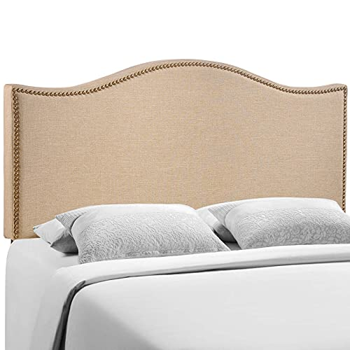 Modway Curl Linen Fabric Upholstered Queen Headboard with...