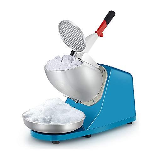 TCYLZ Hochleistungs-Edelstahl-EIS-Rasierer, Schneekegel-Maschine, elektrische Rasier-Eismaschine blau 80kg / h für den Heim- und gewerblichen Gebrauch