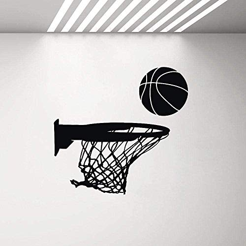HUANGS Fashion Wall Stickers Basketball Hoop Vinyl Sports Decor Garage Decoration Wall Decal Childrens Bedroom Boy Stickers 44X42Cm