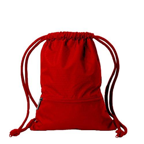 Candora Cordon de serrage Sac à dos sac de sport sac à dos et poche zippée et extra épais cordons pour homme et femme L'école enfants PE kit Sac et pour les sports,à la plage,livres et de voyage