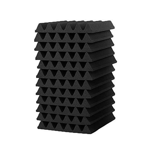 KingSaid 12 Pcs Acoustic Foam Panels Sound Proofing Foam Pads Studio Treatments Tool - 30x30cm