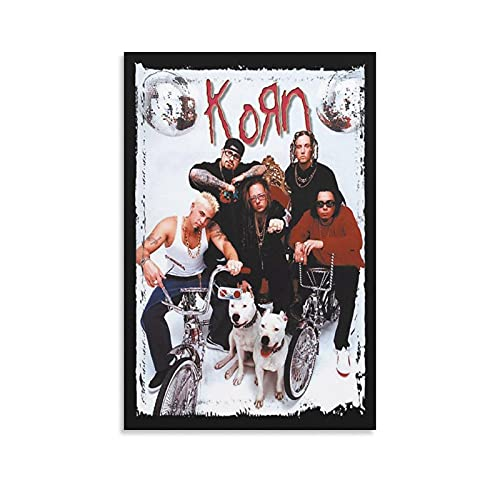 ZZPQ Rock Band Korn Music Personality Poster Canvas Art Poster and Wall Art Picture Print Modern Family Bedroom Decor Posters 12×18inch(30×45cm)