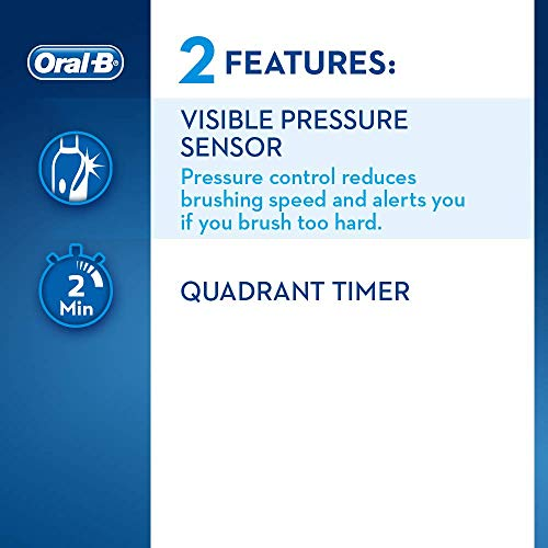 Oral-B Pro 2 2500 CrossAction Electric Toothbrush Rechargeable Powered by Braun