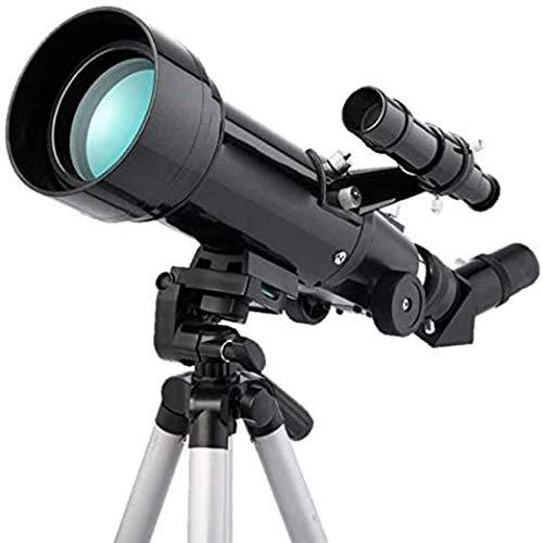 Telescopio Telescopio, Refracción Astronómica 70Mm HD Lente Óptica de Vidrio Totalmente Recubierta, Trípode Portátil Almacenamiento de Viaje al Aire Libre para Principiantes Adultos y Niños