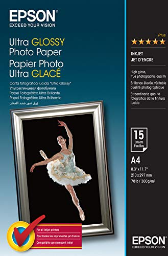 Epson A4 Ultra Glossy Photo Paper, C13S041927