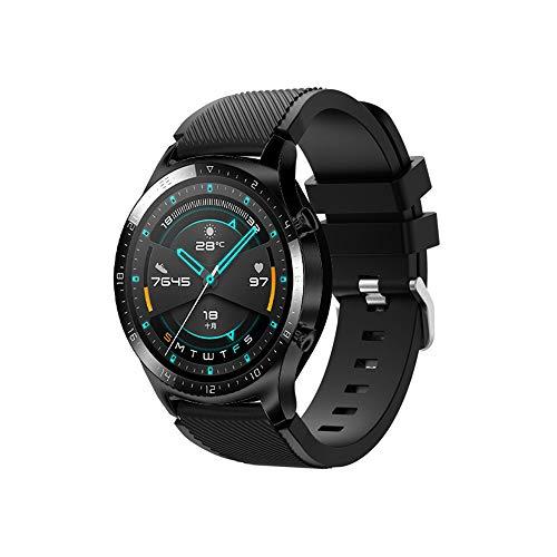Sunbaca 22mm Pulseira de relógio de silicone Banda Pulseira de substituição de pulseira com superfície de faixa de fivela Compatível com HUAWEI WATCH GT 2 46mm / HONRA MagicWatch 2 46mm