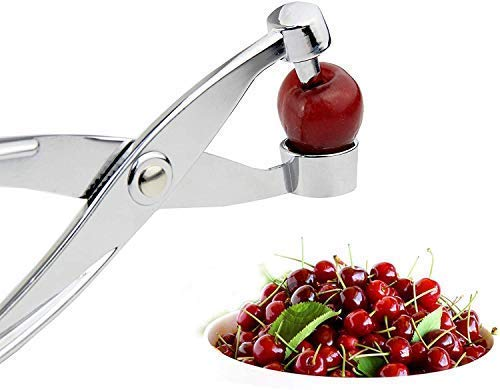 Gxhong Cherry Pitter Olive Pitter Tool and Cherry Stone Remover Cherry Pitter Tool for Making JamCookingBake and Making Jelly  Silver