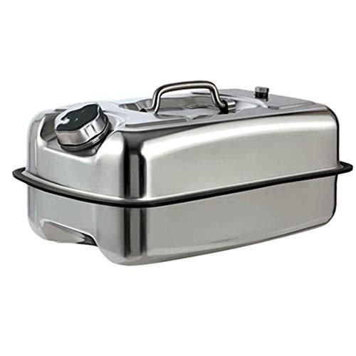 Depósito de combustible de almacenamiento de gasolina de reserva de acero inoxidable 304 Práctico contenedor de combustible de motocicleta Tanque de agua de aceite portátil Latas de gasolina de metal