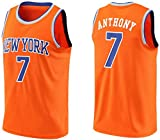 GIHI Camiseta De La NBA para Hombre, Camisetas De New York Knicks Carmelo Anthony 7#, Ropa De Entrenamiento De Baloncesto De Malla Bordada Retro,XXL(185~190CM/95~110KG)