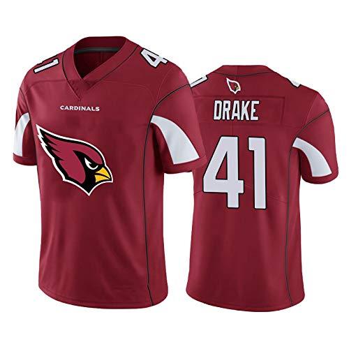 Kenyan Drake # 41 Herren Rugby-Trikot, Arizona Cardinals American Football Trikot, Herren Fans Sport Rugby Trikot, Sweatshirt T-Shirt-red-2XL