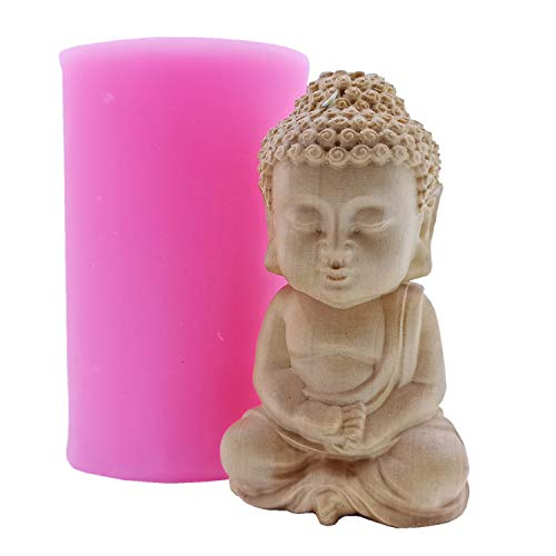 Maitreya Buddha Design Silicone Candle Mold Scented Soap Wax Mold 3D Silicone Mold for Aroma Gypsum Ceramic Resin Concrete Crafts Decorations