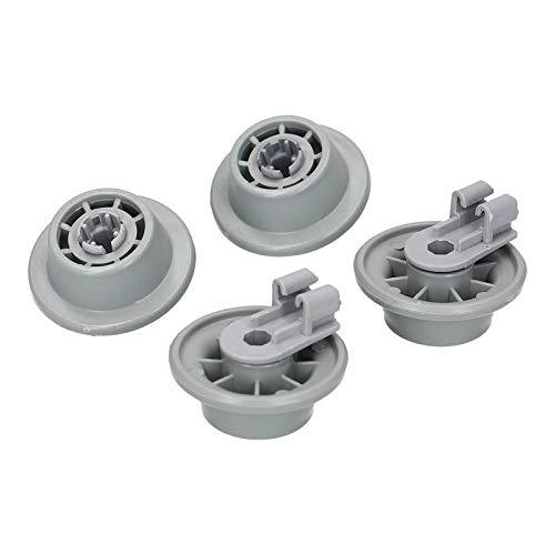 4x Korbrollen Set mit Rollenhalter Geschirrspüler Spülmaschine Unterkorb für Bosch Siemens 00611475 Küppersbusch 436718