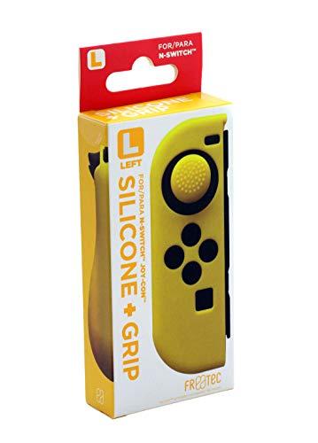 FR·TEC - Funda Silicona + Grip Para Joy- Con Amarillo Izquierdo - Nintendo Switch