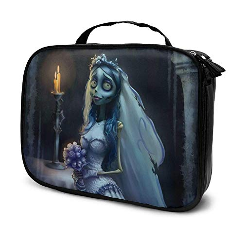 Tim Burton's Corpse Bride Travel Cosmetic Case, Profional Cosmetic Cosmetic Bag Storage Box, Cosmetic Case with Compartment