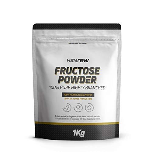 Fructosa de HSN | Carbohidrato de Bajo Índice Glucémico | Uso Deportivo | Ideal para Recetas como Edulcorante | Vegano, Sin Lactosa, En Polvo, Sin Sabor, 1000 gr