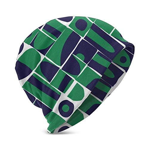 Hdadwy Formas geométricas descuidadas Sombreros de Punto cálidos de Invierno para niños Gorro elástico Suave Gorro de Calavera para niños niñas