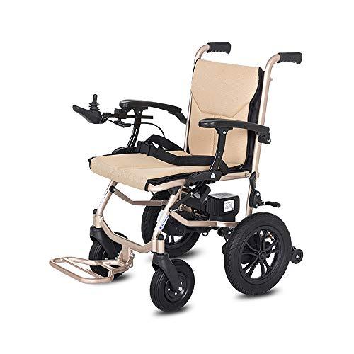 Byx- Sedia a rotelle - Sedia a rotelle elettrica Pieghevole di Alluminio,...