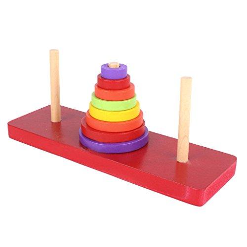 MagiDeal Torre di Hanoi Legno di Puzzle Rompicapo Giocattolo