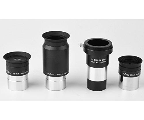 Gosky 1.25inch Telescope Eyepiece Set & 2X Multicoated Barlow LensTelescope...