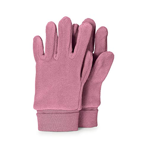 Sterntaler Fleece-Fingerhandschuhe mit elastischem Umschlag, Alter: 3-4 Jahre, Größe: 3, Helllila