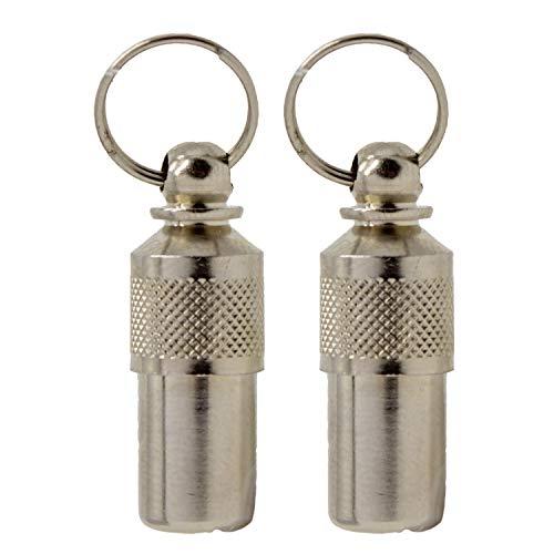 Aribari 2 x Adressanhänger für Hunde und Katzen, Halsbandanhänger, Namensschild auch für kleine Tiere geeignet, Anhänger zur Tierkennzeichnung, aus Metall und wasserdicht