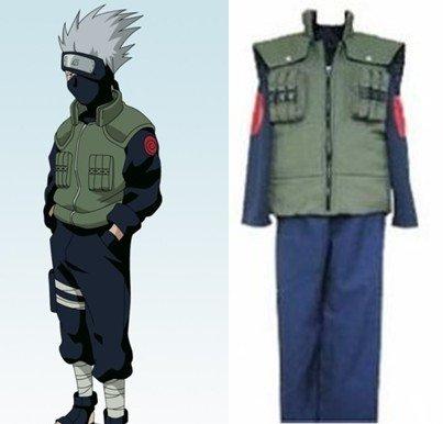 SUNKEE Naruto Cosplay Akatsuki Ninja Kakashi Hatake Disfraz, Tamaño XXL (Altura 178-182 cm, Peso 80-90 kg)
