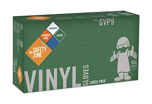 Disposable Vinyl Gloves - Powder Free, Clear, Latex Free and Allergy Free, Plastic, Work, Food Service, Cleaning, Wholesale Cheap, Size Large (Box of 100)