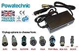 Powatechnic Chargeur de Batterie LiFePO4 12 V DC pour Voiture à 36 V/42 V 1,5 A Lithium-ION LiFePO4 pour vélo électrique, Scooter, Fauteuil Roulant, Chariot de Golf RCA 10.5mm Noir