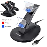 Insten Standing Dual USB Controller Charging Station Dock for PS4 / PS4 Pro / PS4 Slim/Playstation 4 Controller