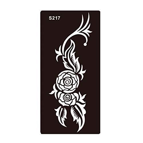 JUSTFOX - Henna Tattoo sjabloon Airbrush Stencil bloem Rose Kina Dövme