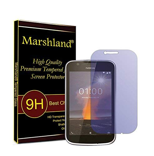 MARSHLAND 2.5D Screen Protector Anti Scratch Bubble Free Tempered Glass Compatible for Nokia 1 (Anti- Blue)