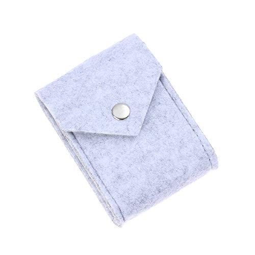 nhnhn oortelefoon tas vilt opslag beschermende datakabel case reiskabel organisator gadgets houder mini portemonnee