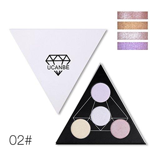 KAYI Coloriage Palette à Paillettes à Paillettes Palette Couleurs Polaires Triangle Palette avec Miroir