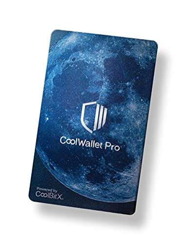 CoolWallet Pro- Wireless Bitcoin Wallet for Savvy Crypto Users- Easily Manage Your BTC, ETH, USDT, XRP, LTC, All ERC20 Tokens- Also TRX, DOT, Atom, All TRC20 Tokens and More