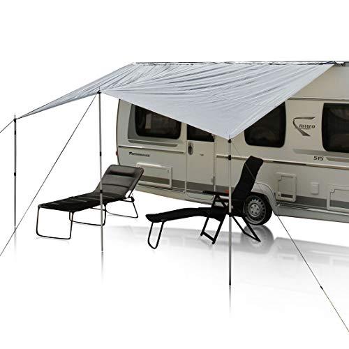 your GEAR Wohnwagen Sonnensegel Caravan Tarp 4 x 2,4 m Sonnendach inkl. Aufstellstangen UV 50+ Schutz wasserdicht 5000 mm
