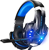 BENGOO G9000 Stereo Gaming Headset for PS4 PC Xbox One PS5 Controller, Noise Cancelling Over Ear Headphones with Mic,...