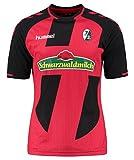 Hummel–Camiseta de fútbol para hombre, color rojo y negro, tamaño small