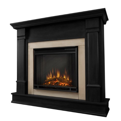 Real Flame G8600E Silverton Electric Fireplace, Black and black control electric Fireplace flame G8600E installation outletdual rating remote requiredplugs setting standard